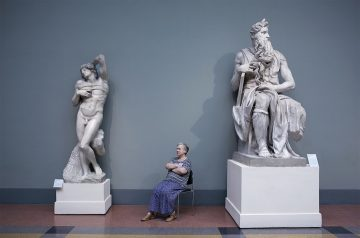 Michaelangelo's Moses and The Dying Slave, Pushkin Museum, 2008