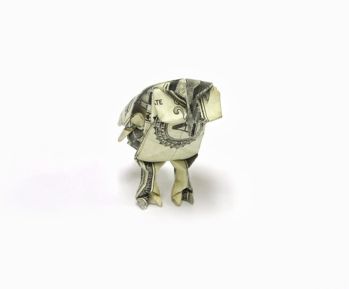Money Origami Ignant