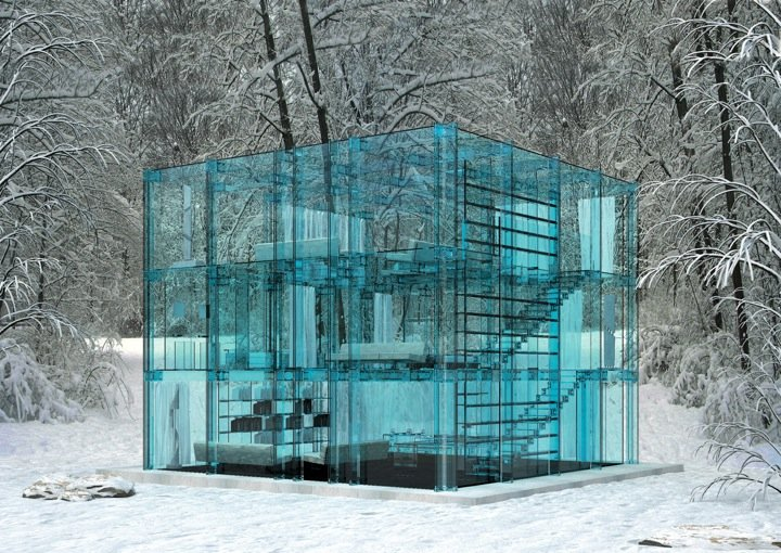 architecture houses glass. Snow House Architecture Houses Glass