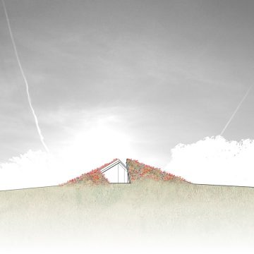 Folded Earth Dwelling NORTH ELEVATION pure line