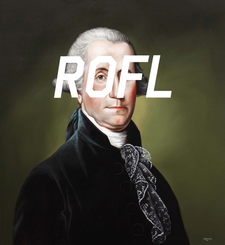 Shawn Huckins's 'revolution' will not be televised; it will be painted