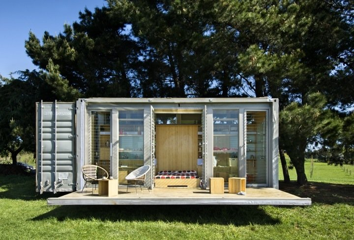 Atelierworkshop Architects created the Port-a-Bach container home. The  up-cycling containers can be an effective answer for large scale projects  if ...