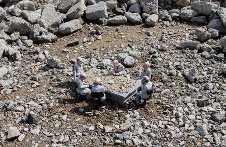 Isaac Cordal's miniature world