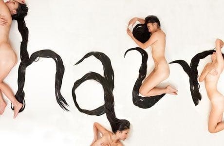 Hair alphabet by Shurong Diao