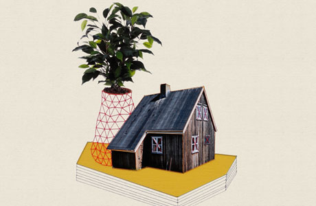 Houses and Plants by Happy Red Fish