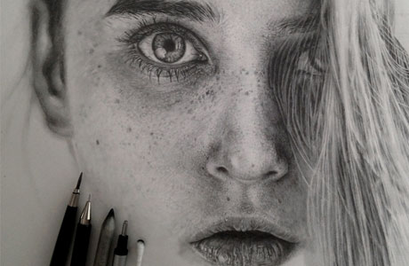Monica Lee's Graphite Drawings