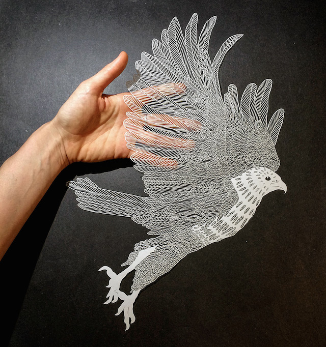Paper carvings by maude white ignant