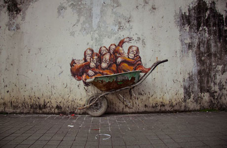 New Street Art by Ernest Zacharevic