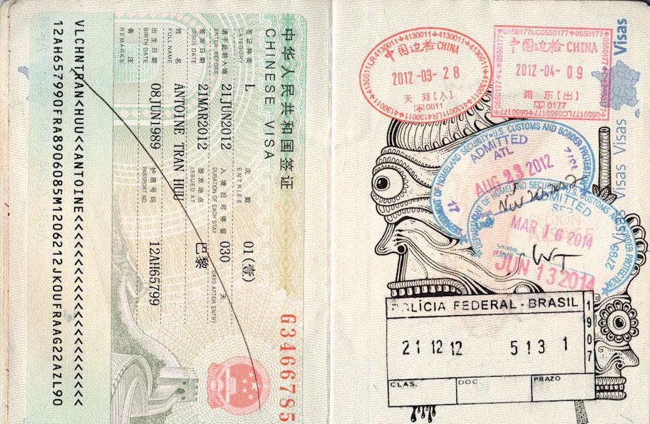 Passport Doodles by Léonard Combier