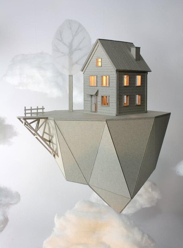 Whimsical Cardboard Lamps By Vera Van Wolferen Ignant Com