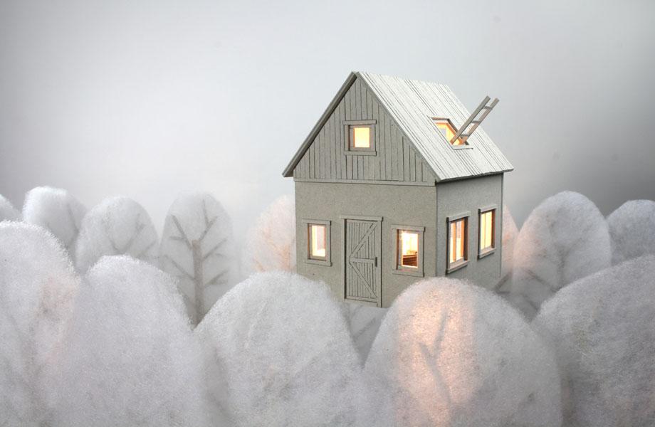 Whimsical Cardboard Lamps by Vera van Wolferen