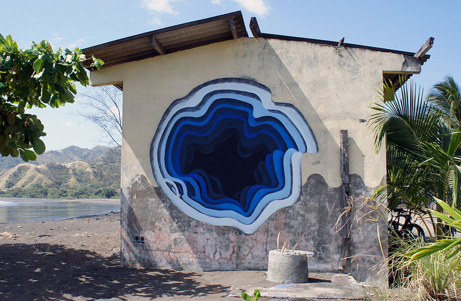 Street Artist kreiert Wandmalereien, die Portale zu einer anderen Welt zu sein scheinen
