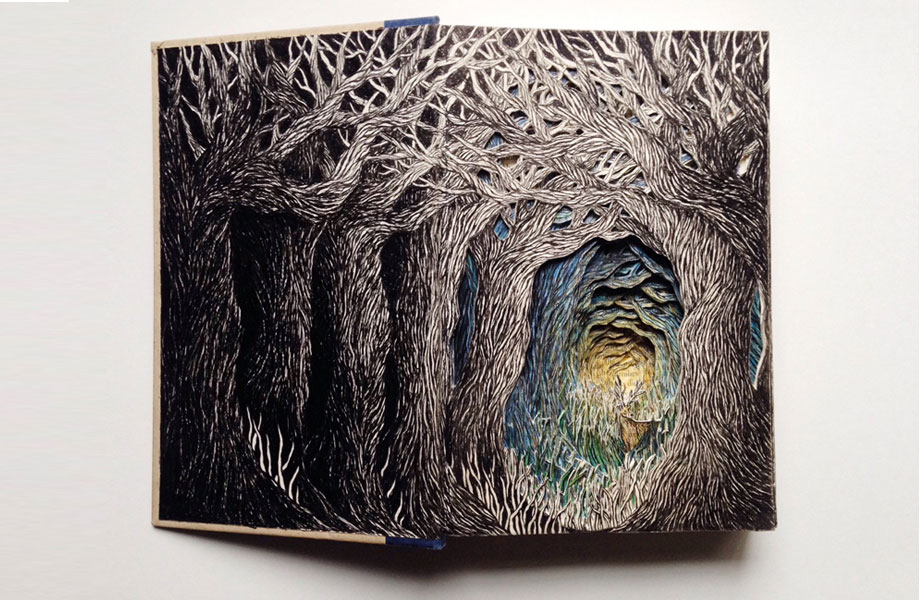 Intricate 3D Sculptures Made From Books By Isobelle Ouzman