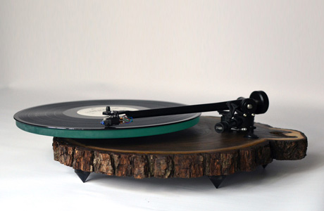 Turntables made from real Tree Trunks