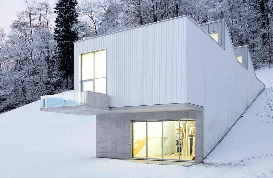 Atelier Albert Oehlen in der Schweiz