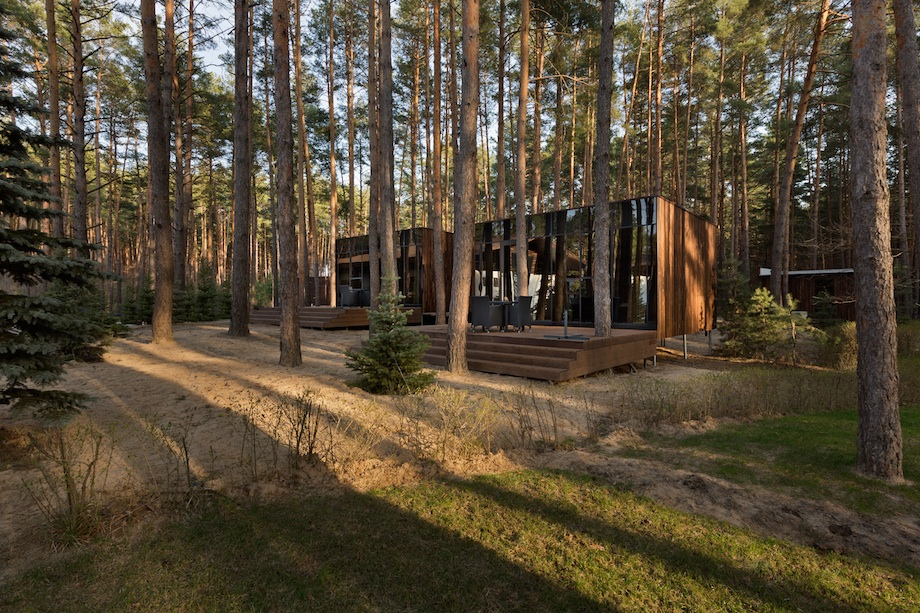Yod Design Lab Creates Timber Guest Houses Amid Ukrainian