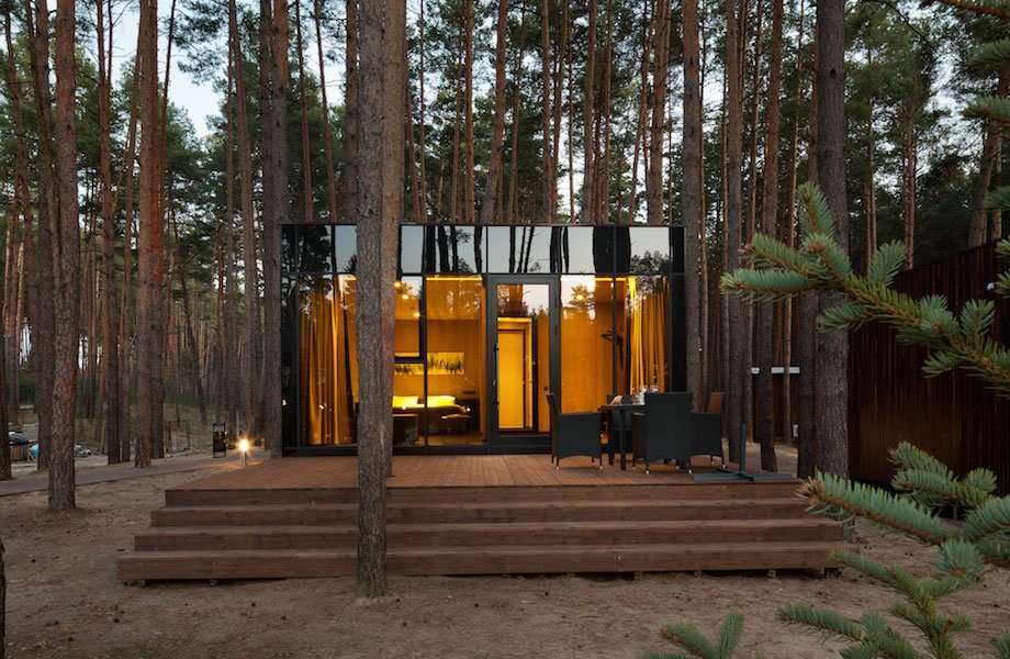 YOD design lab Creates Timber Guest Houses Amid Ukrainian Forest