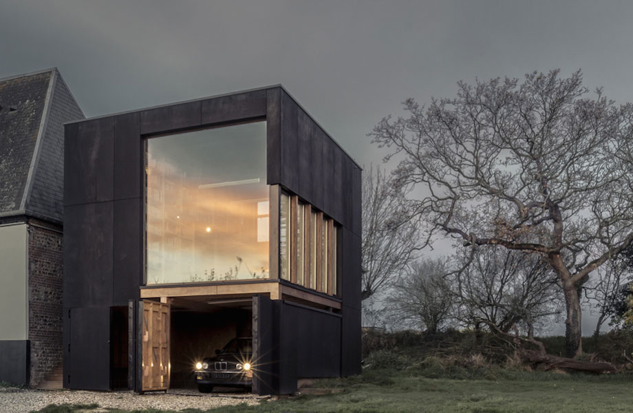Observatory-Inspired Garage, Library And Study by Ziegler Antonin