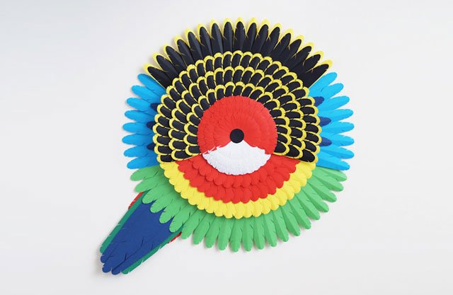 Marine Coutroutsios Creates Colorful Artworks Of Australian Birds Made Of Paper