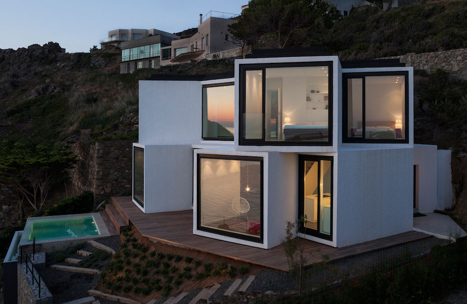 Sunflower House Comprises Cubicals Pointing In Different Directions