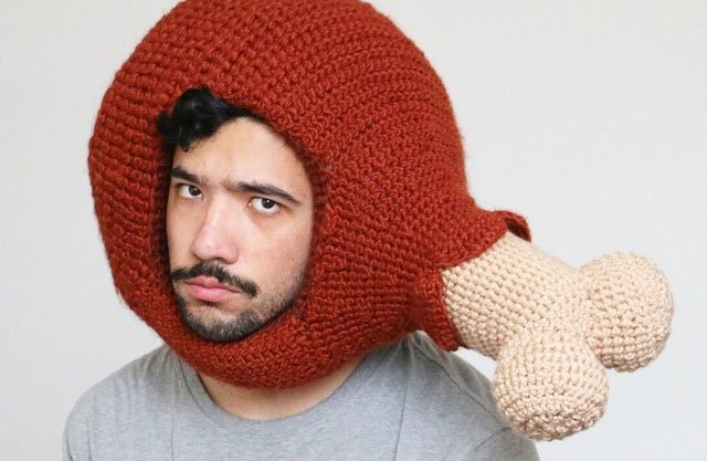 Hilarious Crocheted Food Hats by Phil Ferguson