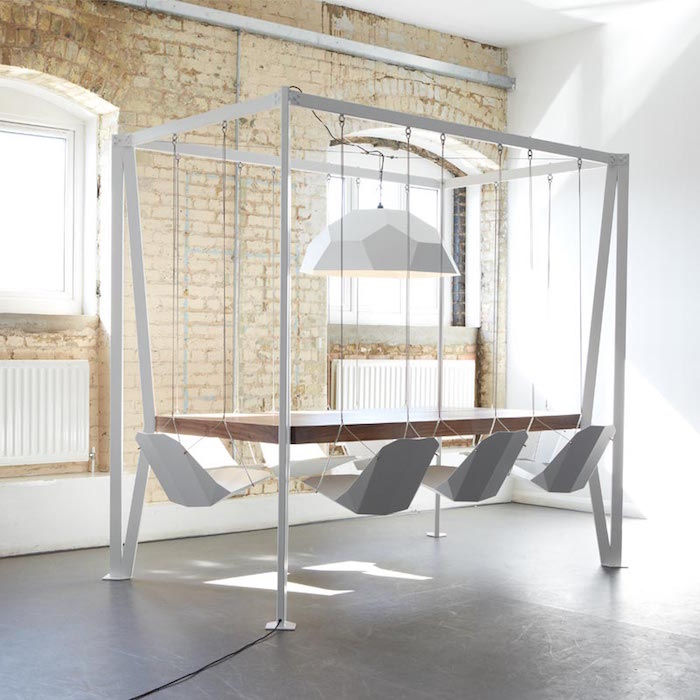 Designer christopher duffy created a table with swings for Design table java swing