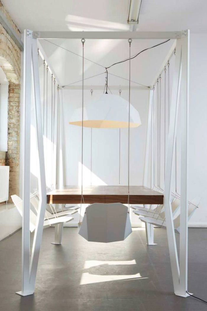 Designer Christopher Duffy Created A Table With Swings