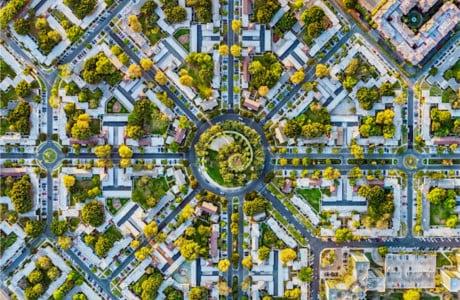 Jeffrey Milstein Captures Ornate Urban Patterns From Above