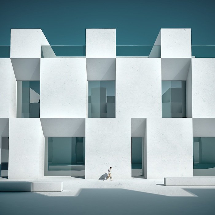 Minimal Architecture michele durazzi creates surreal minimalist architecture images