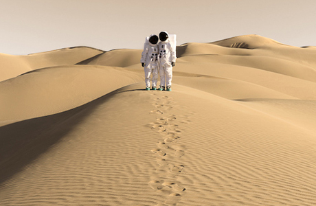Julien Mauve Sends Greetings From Mars With Tourist-style Photos