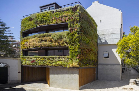 A Plant-Covered Sustainable Home In Portugal