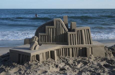 Impressive Modernist Sand Castles By Calvin Seibert