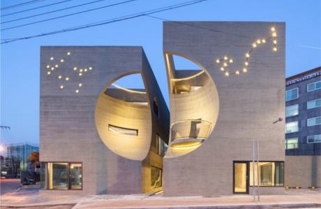 A Quirky Moon-Shaped Building By Moon Hoon Architects