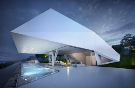 A Minimal Futuristic Villa By Hornung And Jacobi
