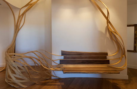 The Arboreus Bench By Rota-Lab Organically Stretches To The Ceiling