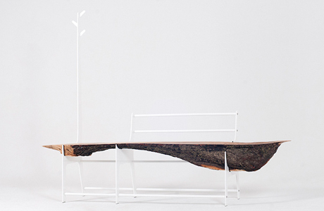 Minimal Tree Trunk Bench By Cradle