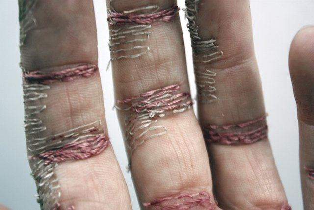 Embroidered Patterns In Flesh By Eliza Bennett | iGNANT.com