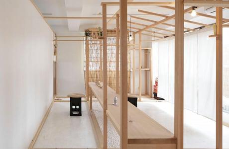 A Minimal Multi-Purpose Wooden Structure By Fumihiko Sano