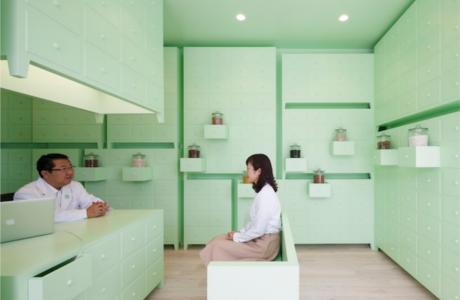 A Serene Mint-Green Herbal Pharmacy By Id Inc