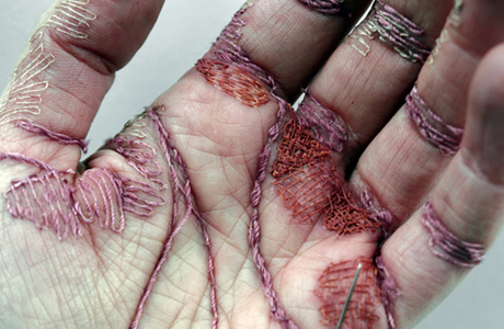 Embroidered Patterns In Flesh By Eliza Bennett
