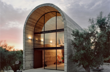 A Curved Concrete Art Warehouse By A31 Architecture