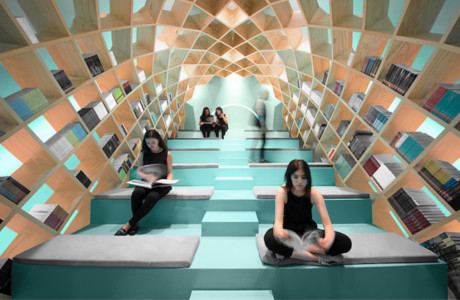 A Dome-Shaped Bookshelf Designed By Anagrama