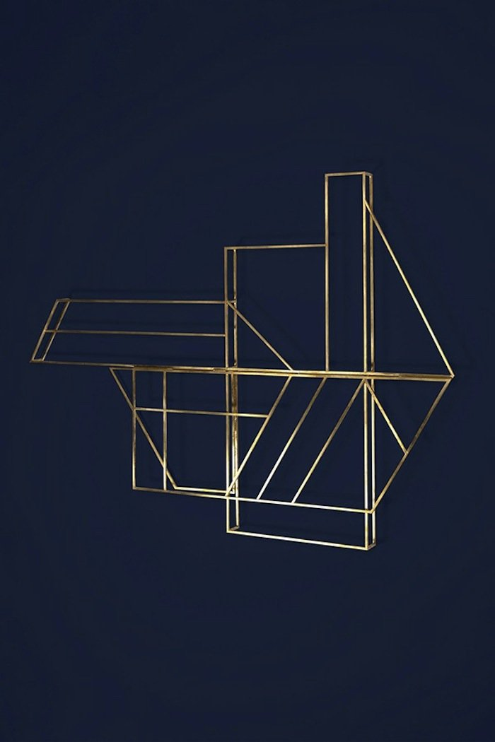 studio berg designed a drying rack that doubles as wall. Black Bedroom Furniture Sets. Home Design Ideas