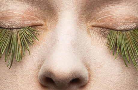 Eyelashes Made Of Eggs, Snow And Plants By Mary Graham