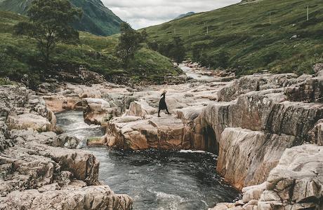 A Road Trip Through The Mountains In Scotland