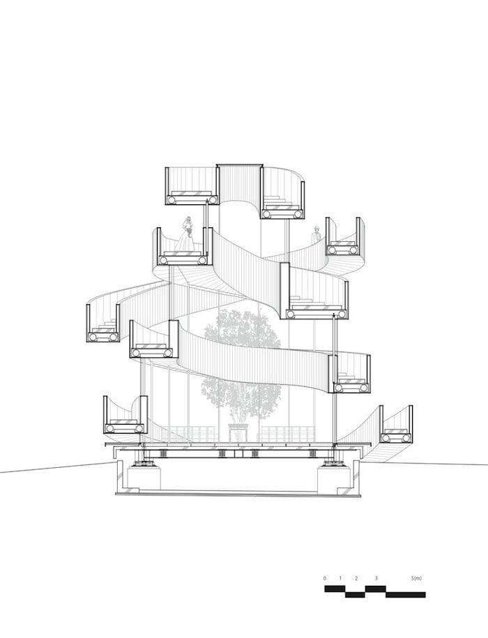 Ribbon Building_Architecture_Plan