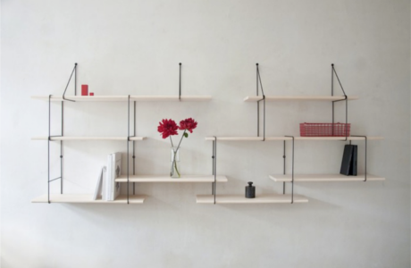 a minimal shelf that can be combined in different ways. Black Bedroom Furniture Sets. Home Design Ideas