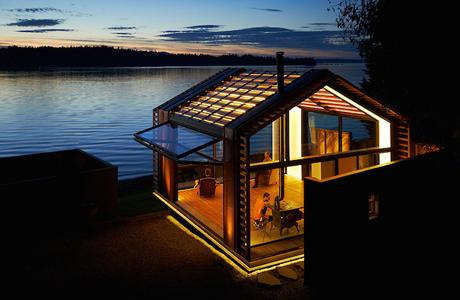 A Glowing Garage-Turned-Cabin By Studio Graypants