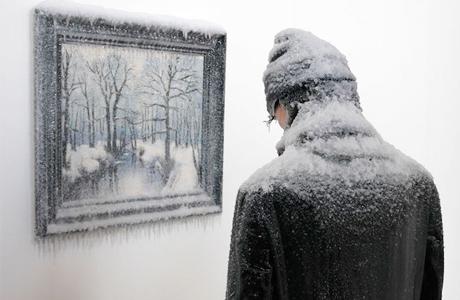 Hyperreal Frozen Self-Portrait By Artist Laurent Pernot