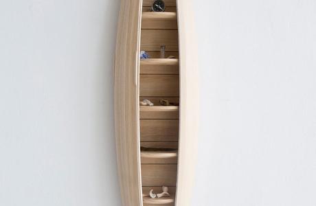 A Boat-Shaped Wall Shelf By Jeremy Zietz